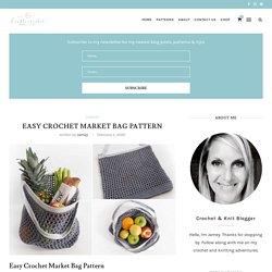 Easy Crochet Market Bag Pattern - Double Crochet
