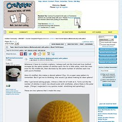 Ideal Crochet Sphere (Mathematically!) with pattern - CROCHET