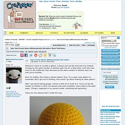Ideal Crochet Sphere (Mathematically!) with pattern