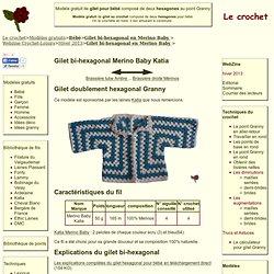 modèle de gilet pour bébé dans deux hexagones Granny