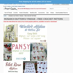 Free Monarch Butterfly Fridgies Pattern