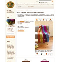 Free Crochet Pattern 90324AD Wind Chime Afghan