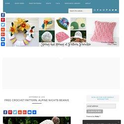 Free Crochet Pattern: Alpine Nights Beanie