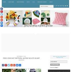 Free Crochet Pattern: Alpine Nights Scarf