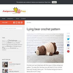 Lying bear crochet pattern