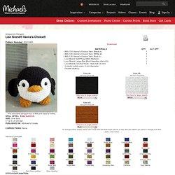 Free Crochet Pattern: Vanna's Choice® Amigurumi Penguin