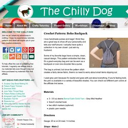 The Chilly Dog: Crochet Pattern: Boho Backpack