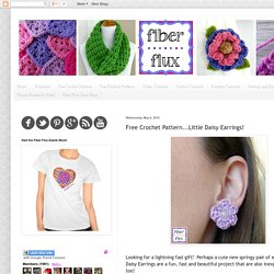 Fiber Flux: Free Crochet Pattern...Little Daisy Earrings!