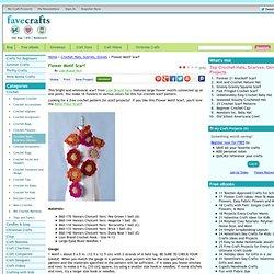 Flower Motif Scarf Crochet Pattern