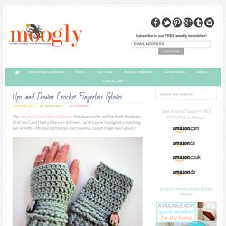 Free #Crochet Pattern: Ups and Downs Fingerless Gloves!