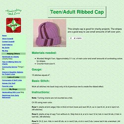 Teen/Adult Ribbed Cap - Free Crochet Pattern - Handcrafting With Love