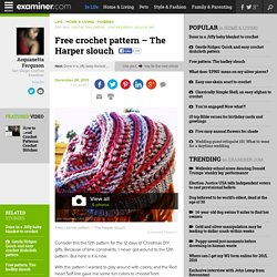 Free crochet pattern – The Harper slouch