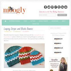 Free Crochet Pattern: Leaping Stripes and Blocks Beanies on Moogly