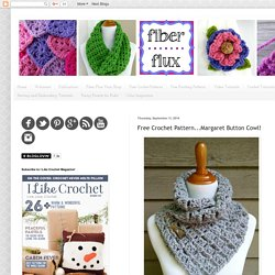 Free Crochet Pattern...Margaret Button Cowl!