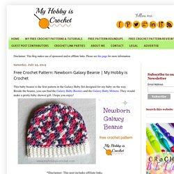 Free Crochet Pattern: Newborn Galaxy Beanie