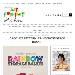 Crochet Pattern: Rainbow Storage Basket