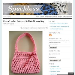 Purses - crochet patterns Pearltrees