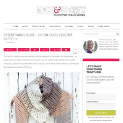 Free Caron Cakes Crochet Pattern - Desert Winds Triangle Scarf