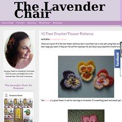 10 Free Crochet Flower Patterns - The Lavender Chair