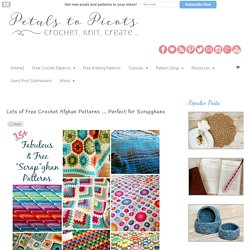 Lots of Free Crochet Afghan Patterns … Perfect for Scrapghans