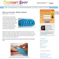 How to Crochet: Bullion Stitch