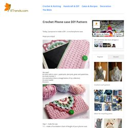 Crochet Phone case DIY Pattern