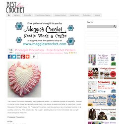 Pineapple Pincushion – Free Crochet Pattern