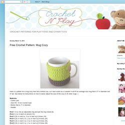 Free Crochet Pattern: Mug Cozy