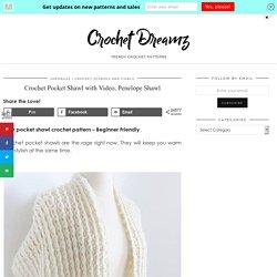 Crochet Pocket Shawl (Trendy in 2020) - Crochet Dreamz