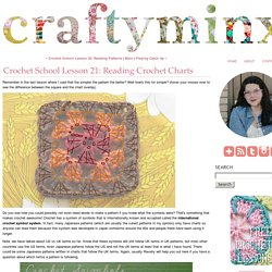 Crochet School Lesson 21: Reading Crochet Charts - Craftyminx