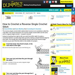 How to Crochet a Reverse Single Crochet Stitch