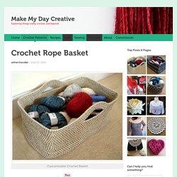 Crochet Rope Basket