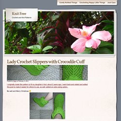 Lady Crochet Slippers with Crocodile Cuff