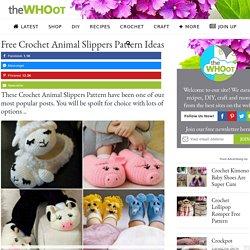 Free Crochet Animal Slippers Pattern Ideas