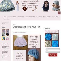 Crochet Spiral Baby Hat