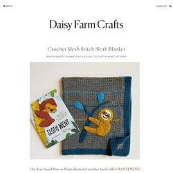 Crochet Mesh Stitch Sloth Blanket