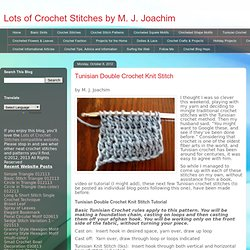 Tunisian Double Crochet Knit Stitch