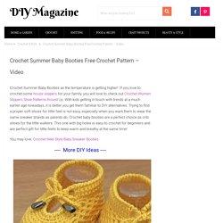 Crochet Summer Baby Booties Free Crochet Pattern - Video
