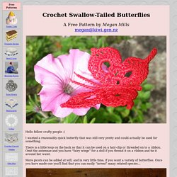 Crochet Swallow-Tailed Butterflies