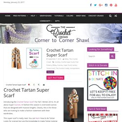 Crochet Tartan Super Scarf