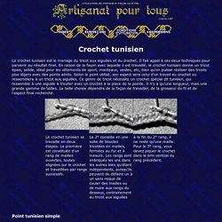 Crochet tunisien - Artisanat pour tous