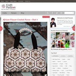 African Flower Purse