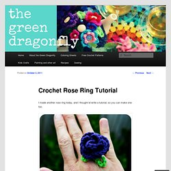 Crochet Rose Ring Tutorial