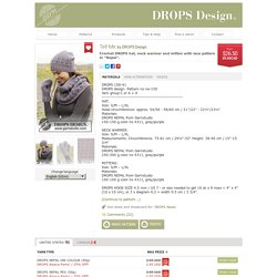 "Tell Me - Crochet DROPS hat, neck warmer and mitten with lace pattern in ""Nepal"". - Free pattern by DROPS Design"