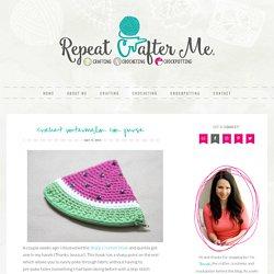 Crochet Watermelon Coin Purse