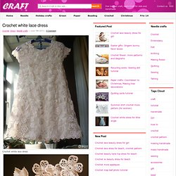 crochet white lace dress