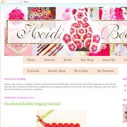 Crocheted Bobble Edging Tutorial