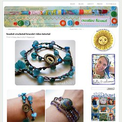 beaded crocheted bracelet video tutorial