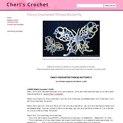 Fancy Crocheted Thread Butterfly - Cheri's Crochet