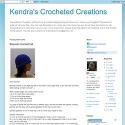 Bosnian crochet hat